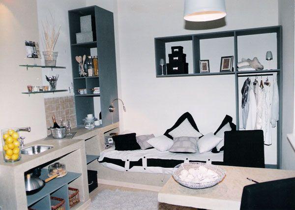 Como subdividir un monoambiente departamento de un solo for Como decorar mi departamento pequeno