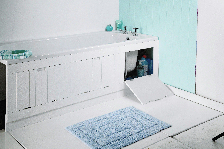 Buy HOME Hideaway Matte White Bath Panel at Argos.co.uk, visit Argos ...
