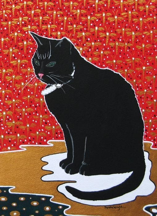 Lucky Cat 2 Print By Renata Wright