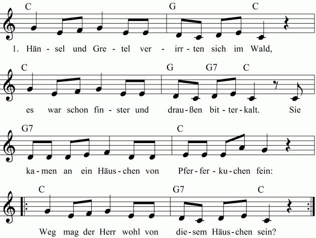 Liedtext Hänsel Und Gretel