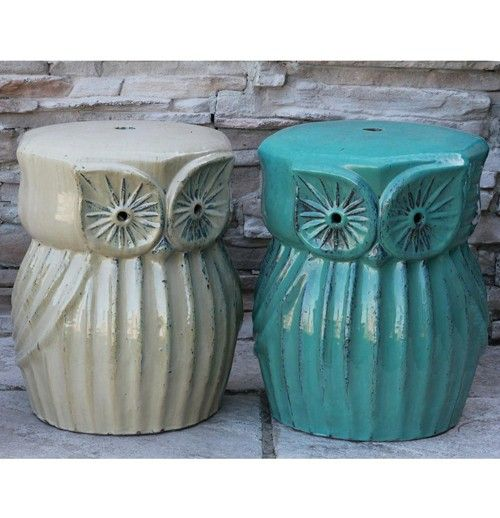 Anamese Owl Stool With Images Owl Stool Decorative Jars