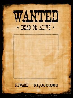 Blank Wanted Poster Template Make Your Own Wanted Poster Poster Template Poster Template Free Wanted Template