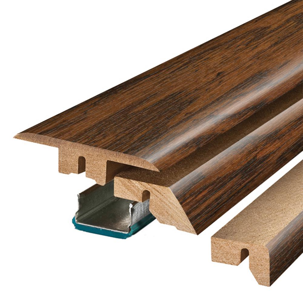 Pergo Franklin Lakes Hickory 3/4 in. Thick x 2-1/8 in. Wide x 78-3/4 in. Length Laminate 4-in-1 Molding, Dark