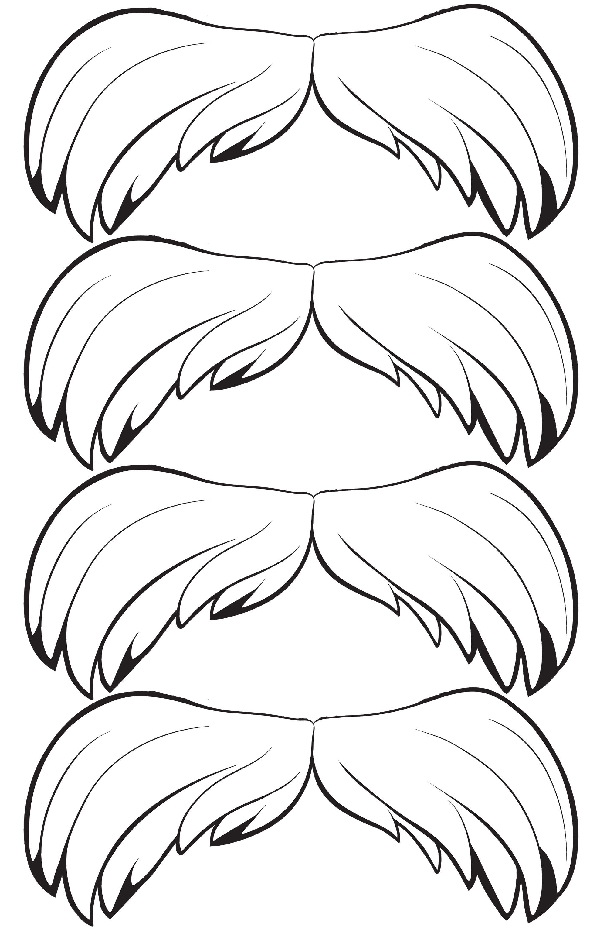 Tactueux image pertaining to lorax mustache printable