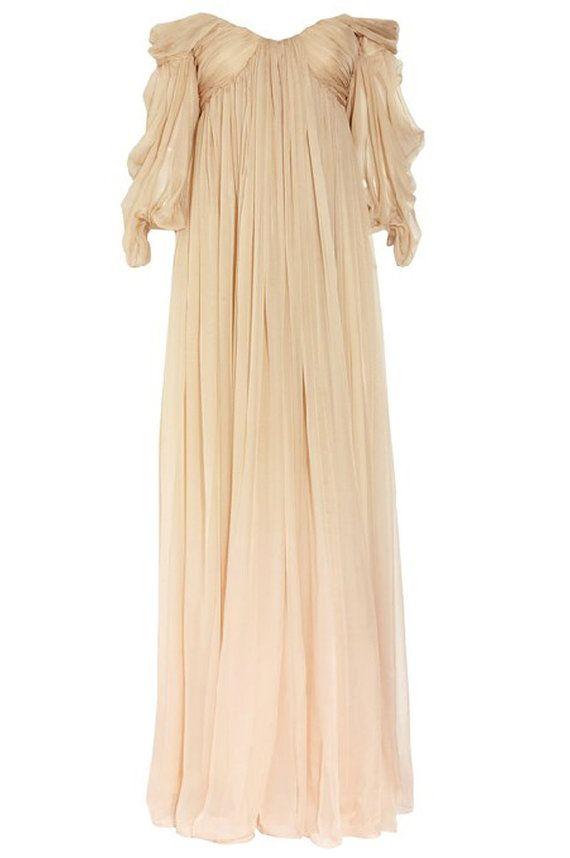 Custom Made Ancient Greece off shoulder long sleeves Wedding Dress ...