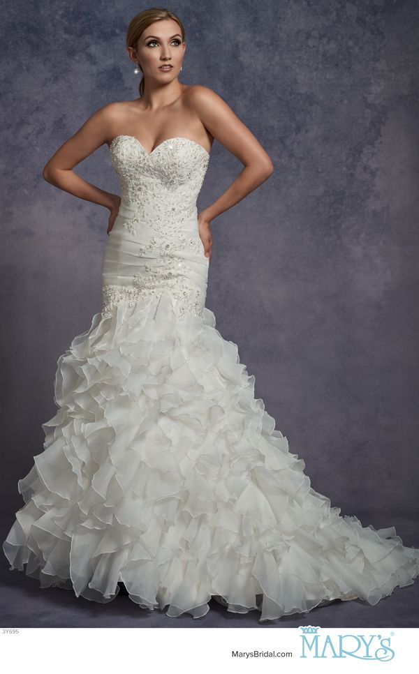 Mary\'s Bridal Style 3Y695 • Organza strapless fit and flare bridal ...