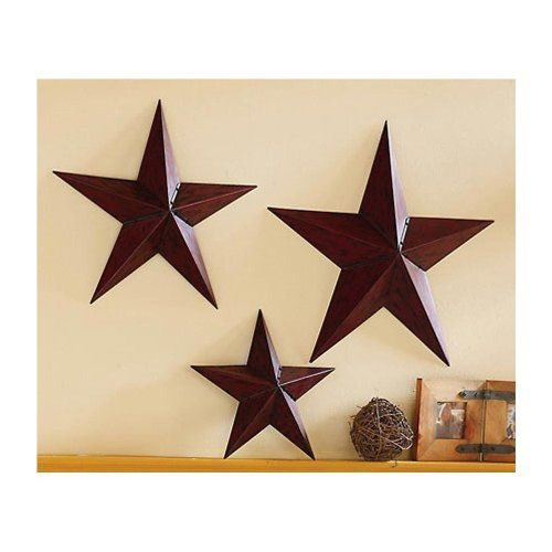 country star primitive wall trio rustic star home decor rustic