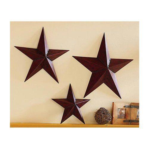 Wall Trio Rustic Star Home Decor
