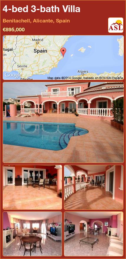 4-bed 3-bath Villa in Benitachell, Alicante, Spain ►€895,000 #PropertyForSaleInSpain