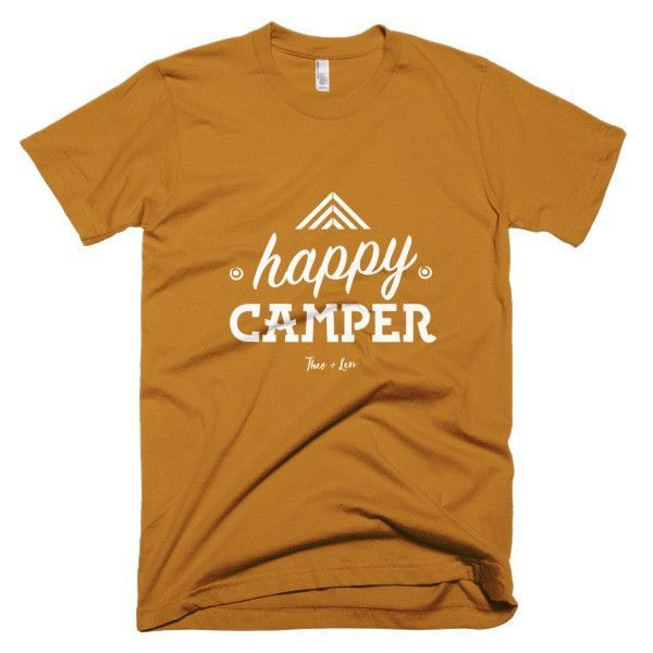 GRAPHIC T-SHIRT 'HAPPY CAMPER'