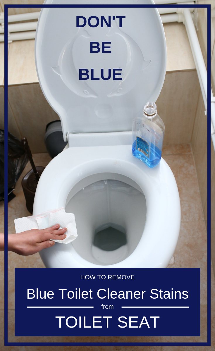 Don T Be Blue How To Remove Blue Toilet Cleaner Stains From Toilet Seats Cleaning Ideas Com Toilet Cleaner Toilet Stains Toilet Seat