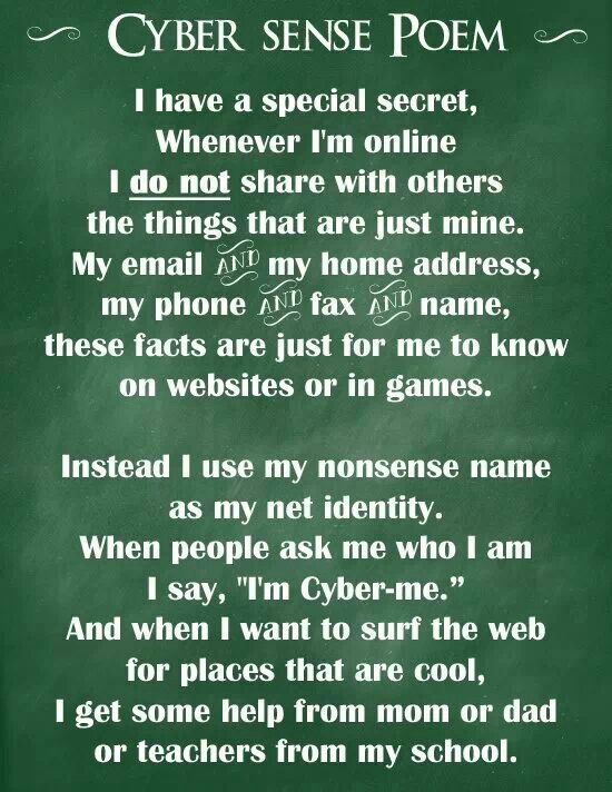 Teach children about cyber safety with this poem | Being mom ...