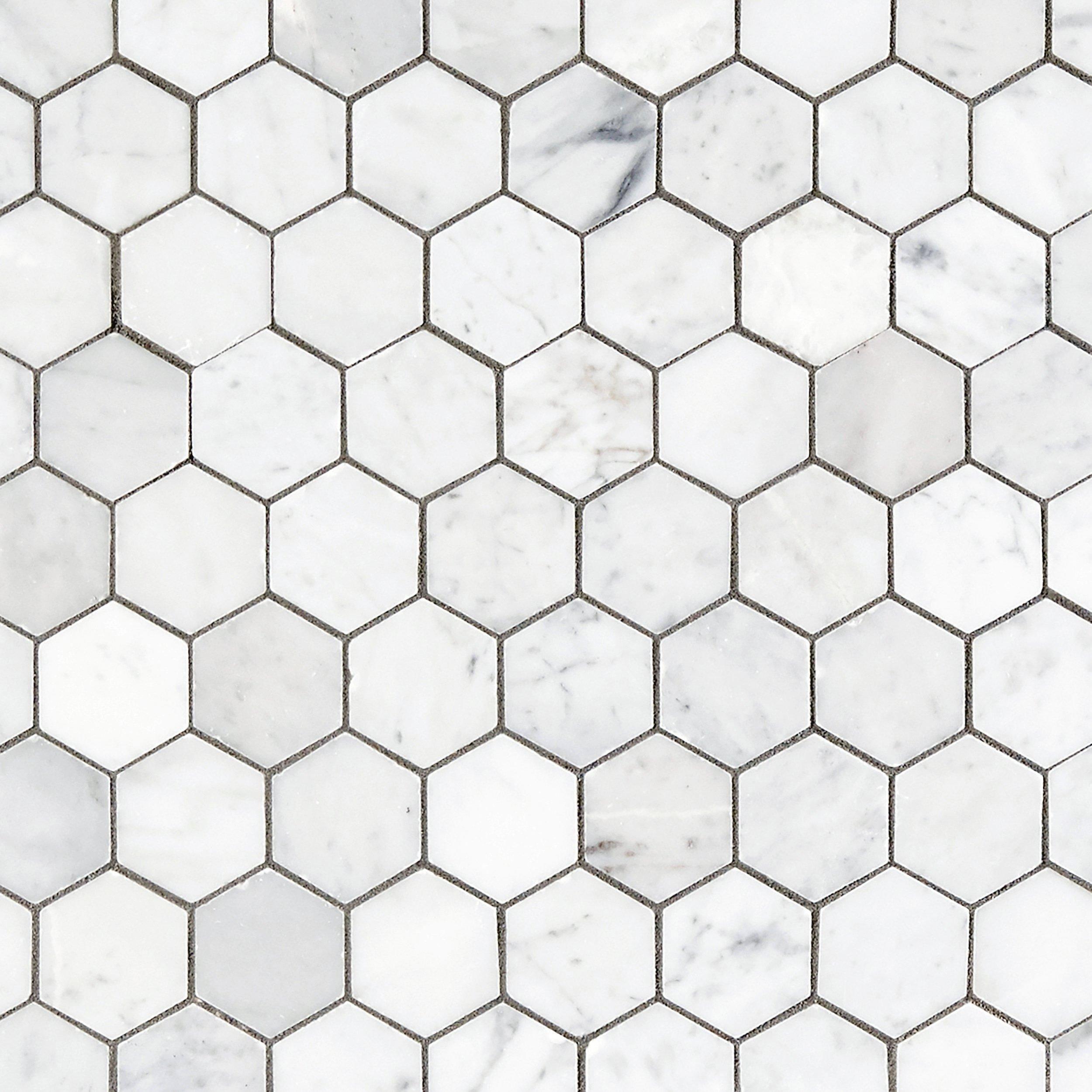 Bianco Carrara Hexagon Marble Mosaic Floor Amp Decor