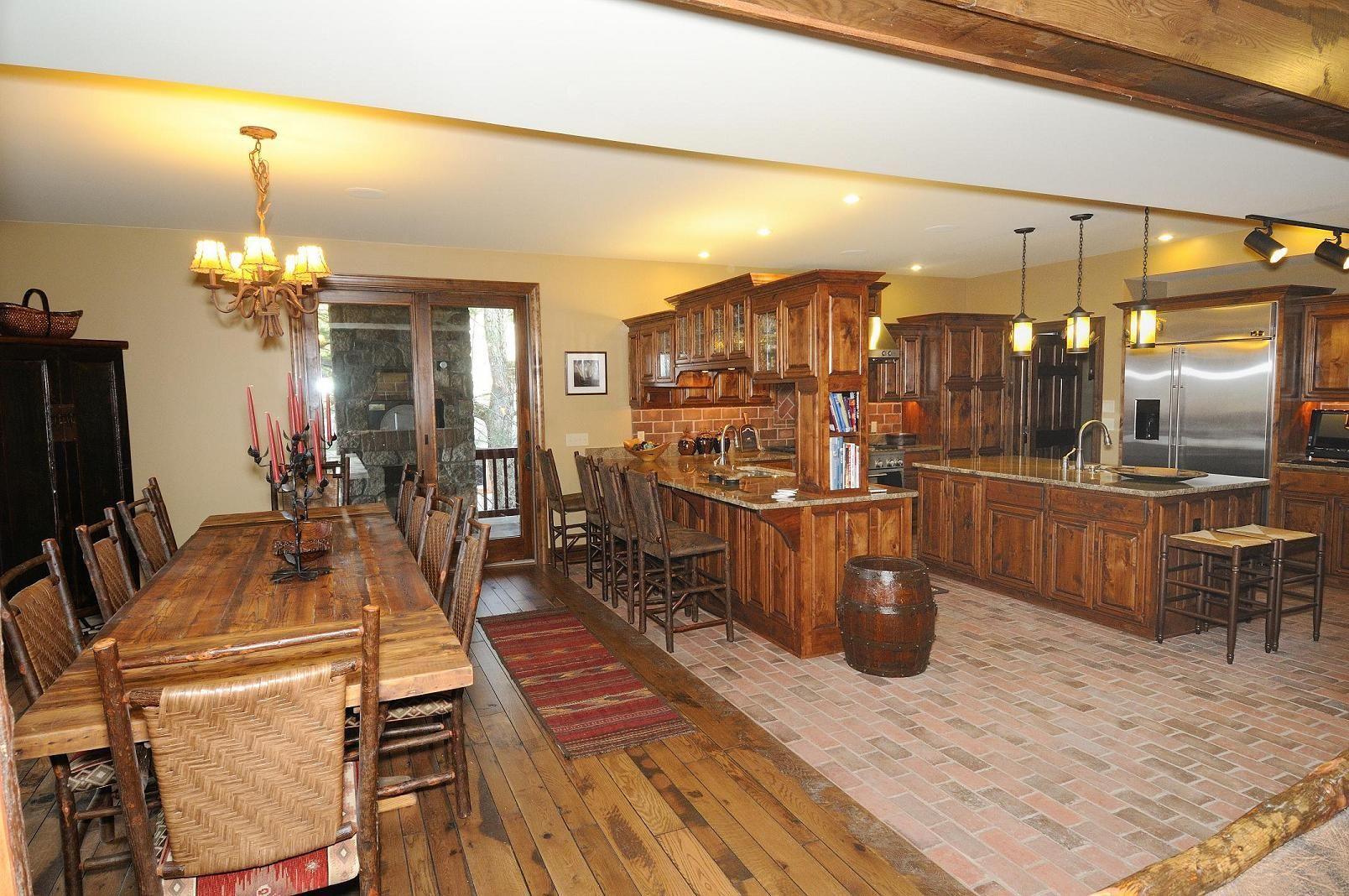Kitchen:Astonishing Fantastic Kitchen Decoration And Thin Brick Kitchen  Backsplash And Kitchen Floor Design Using Light Walnut Wood Kitchen Cabinet  Doors ...