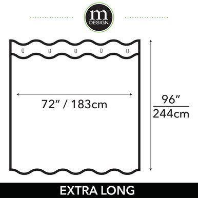 Mdesign X Large Vinyl Shower Curtain Liner For Bath Varied Sizes