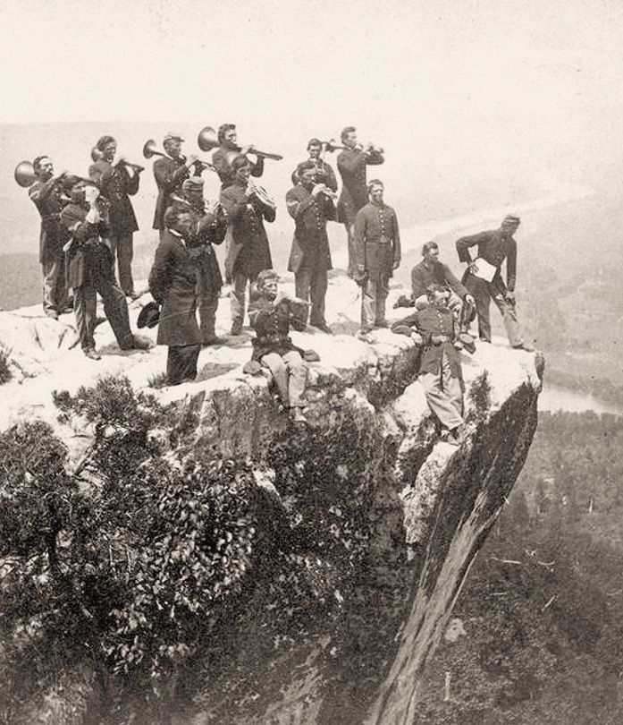 Old civil war pictures union army band on lookout mountain 1864 old civil war pictures union army band on lookout mountain 1864 altavistaventures Images