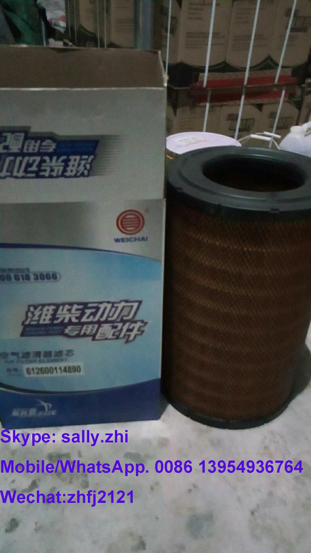 original Air filter, 612600114890 for weichai TD226B