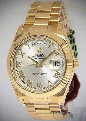 #Trending - Rolex NEW Day-Date II President 18k Yellow Gold Mens Watch Box/Papers 218238 http://ift.tt/2lRnUx2 https://t.co/ePIu6L6TdD