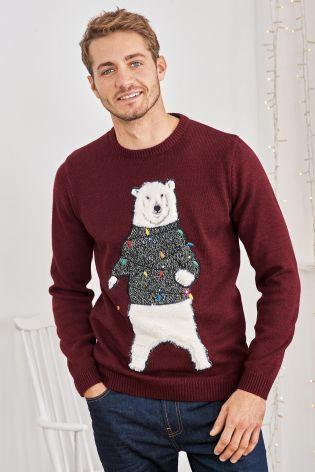 Next Christmas Jumpers.Buy Burgundy Polar Bear Christmas Jumper From The Next Uk