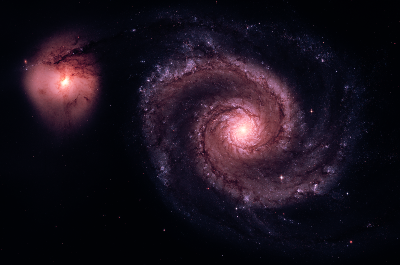 Real Space Photos From Hubble Telescope M51