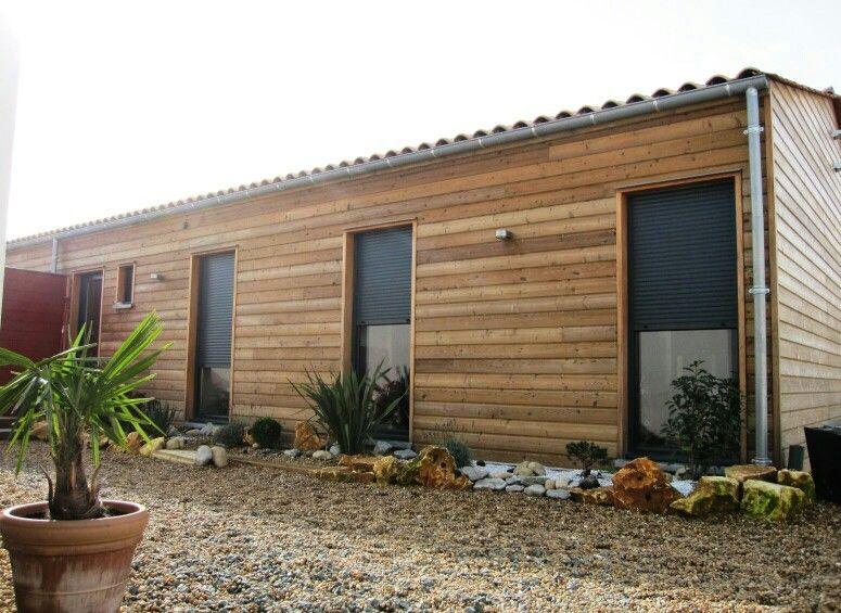 Extrem Maison ossature bois, bardage mélèze cl3   Construction maison  BK92