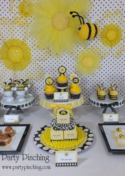 Bee Party Ideas Cookies Cute Desserts Cupcakes Hive CookiesBumble BirthdayCute