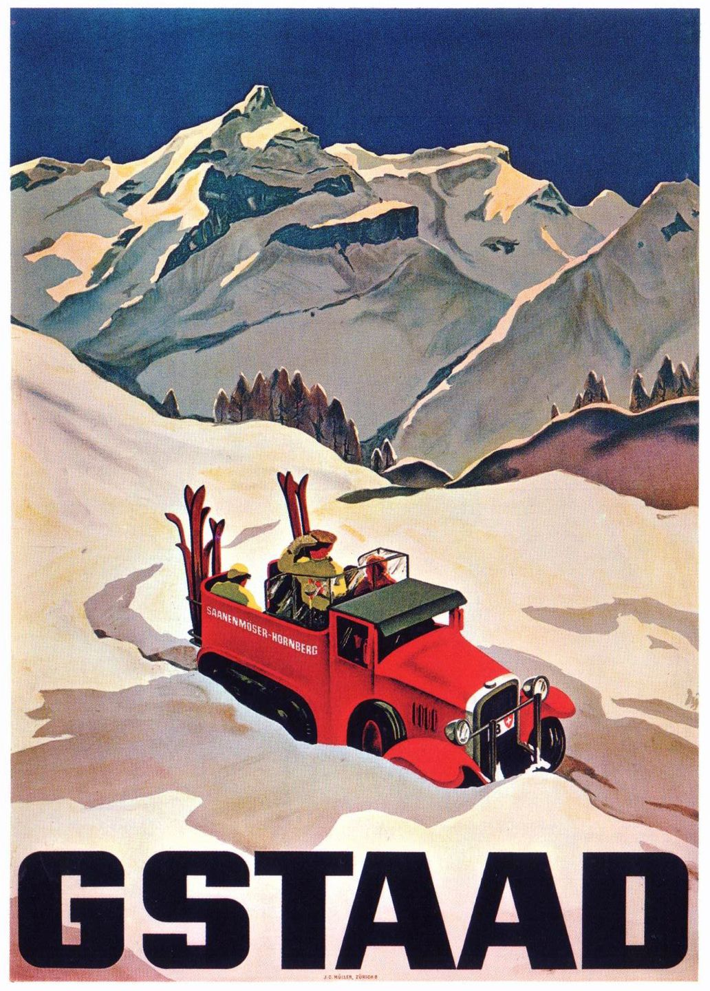 Poster for Gstaad, Switzerland.