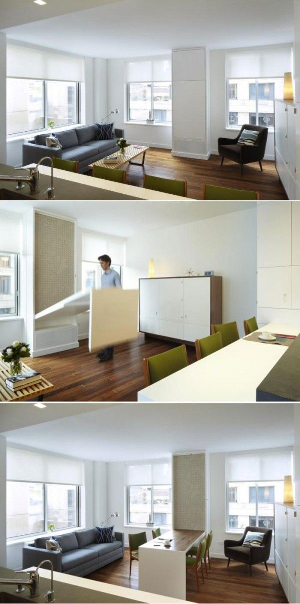 Hidden Table On The Wall Space Saving Dining Table Expandable
