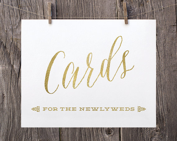 5x7 Printable Wedding Signs Wedding Cards For The Newlyweds Sign