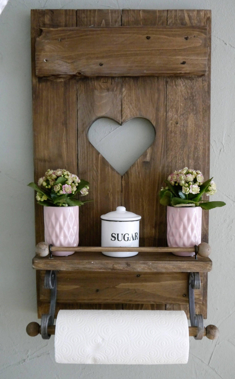 Fensterladen mit Herz für Küche Esszimmer,Regal SHABBY Landhaus ...