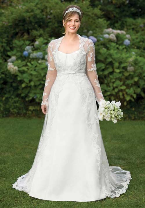 plus size wedding dresses with sleeves get the perfect idea about
