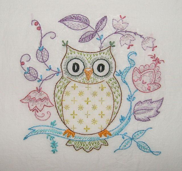 exceptional Owl Embroidery Pattern Part - 10: Embroidery owl