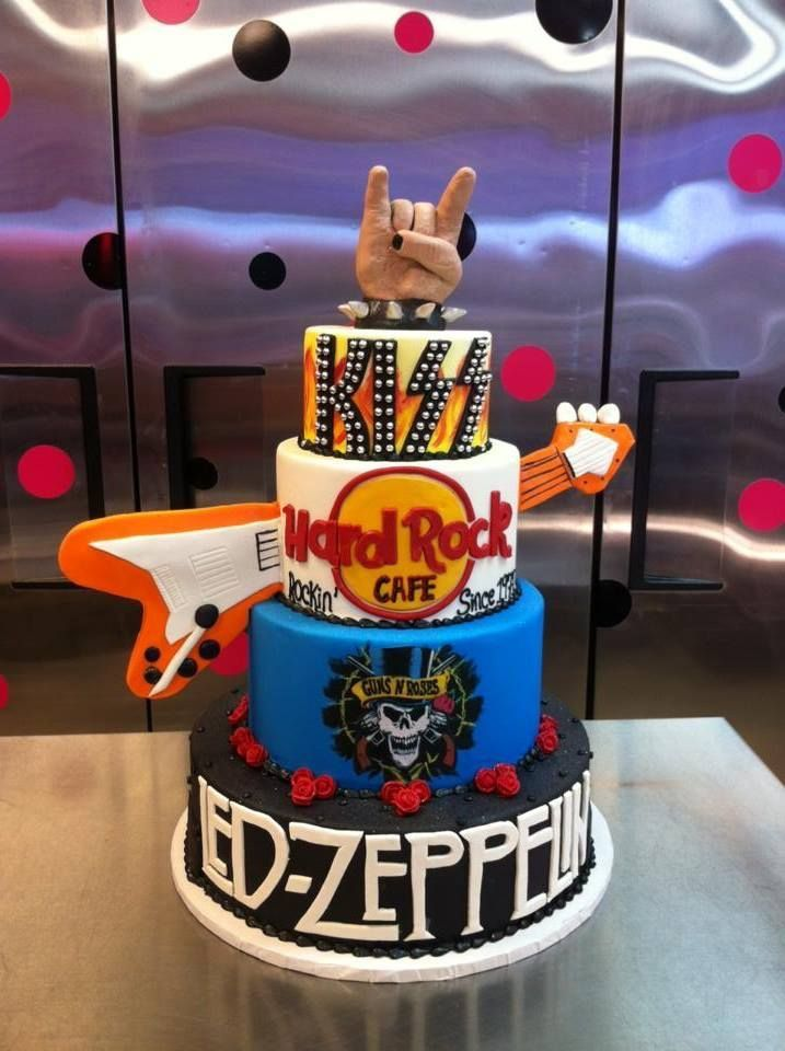 Rock N Roll Cake Beas Birthday Pinterest Roll Cakes Rock And