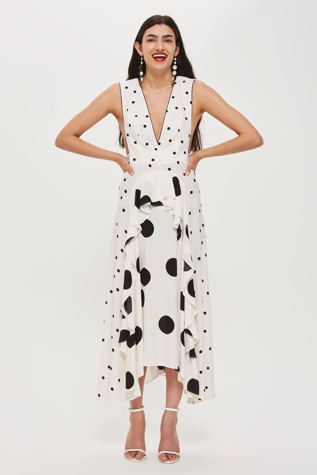 topshop polka dot dress