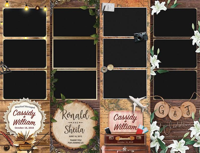 2x6 Photo Strip Photobooth Template Printable Custom Photo Etsy Rustic Photo Booth Photobooth Template Photo Booth