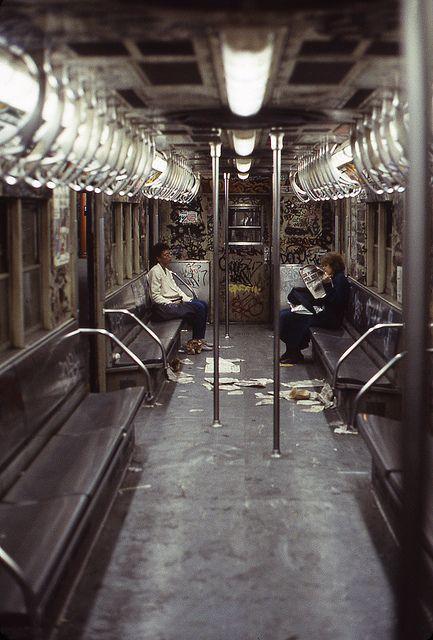 This subway has something that inspires me. So trashy.