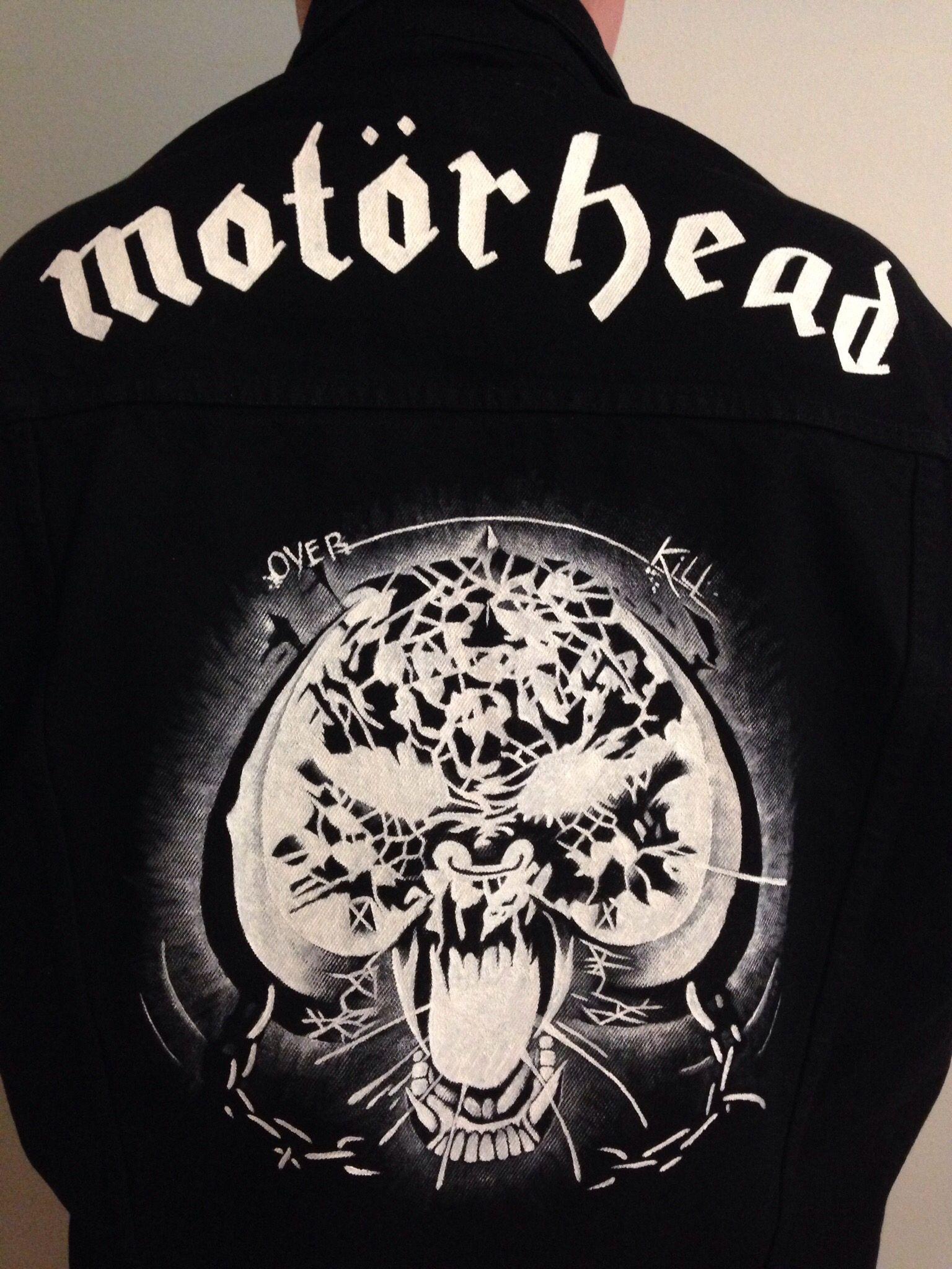 ece91664c9fdd Motörhead - Overkill on denim jacket. Handmade by @nadja2013 ...