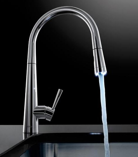 Pull Out Faucet with LED Illuminated Nozzle Head - Franke Rolux ...