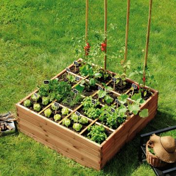 Carr potager estragon 576l dans mon jardin pinterest carr potager carr et potager - Potager en carre que planter ...