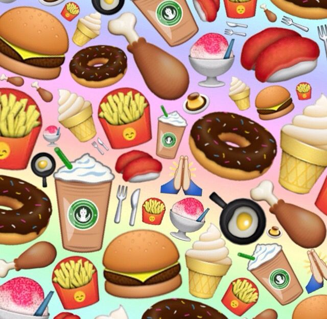 Cute emoji food background (With images) Emoji wallpaper