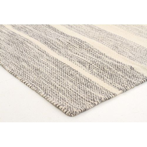Grey Meli Pure Wool Scandinavian Style Rug Bedroom Rugs