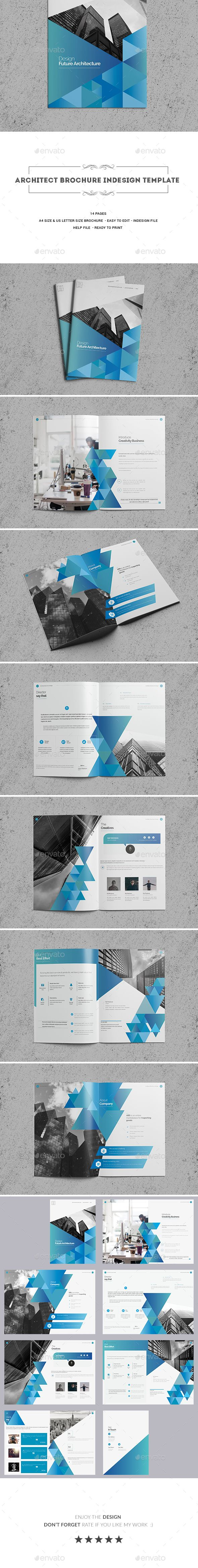 Architect Brochure Template InDesign INDD - 14 Pages, A4 & US Letter ...