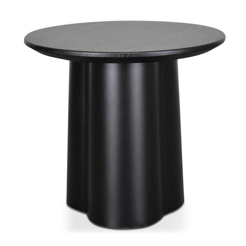 Polly Round Side Table Black In 2021 Black Side Table Round Side Table Black Side Table