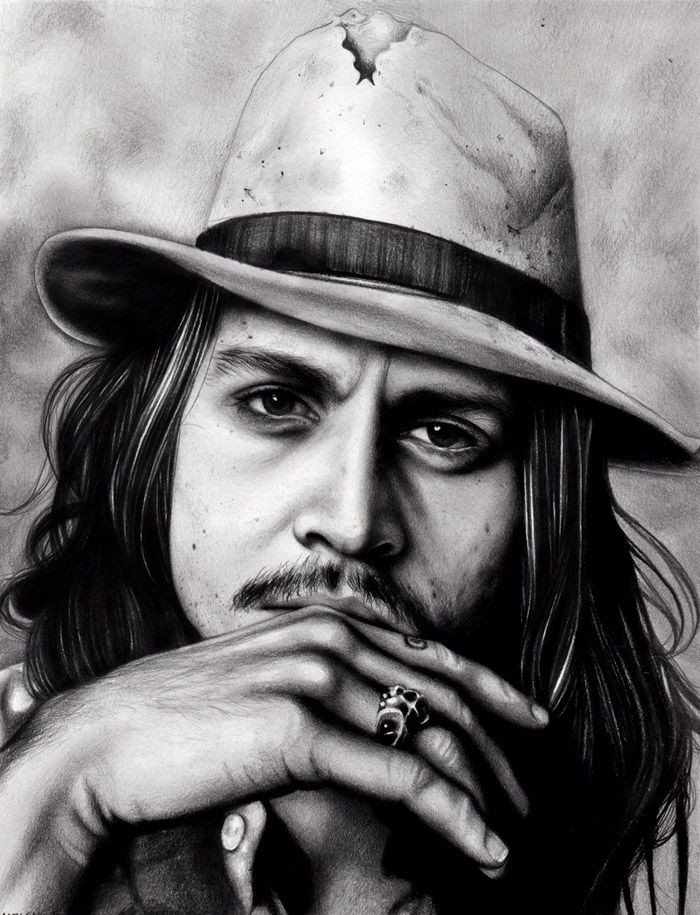 johnny depp by marziiporn pencil drawing portrait mind blowing of realism