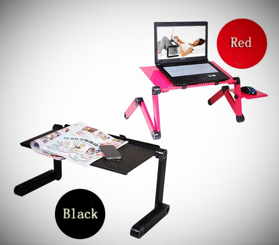Portable folding laptop notebook table desk adjustable laptop stand - New Folding Laptop Notebook Table Desk Portable Adjustable Laptop Stand Desk With Cooling Holes Mouse Board