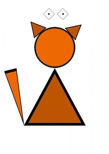 Картинки животных из геометрических фигур (с изображениями ...