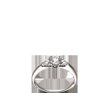 Bague solitaire, diamant taille brillant & diamants poires - Didier Guérin  <3 *favourite* <3