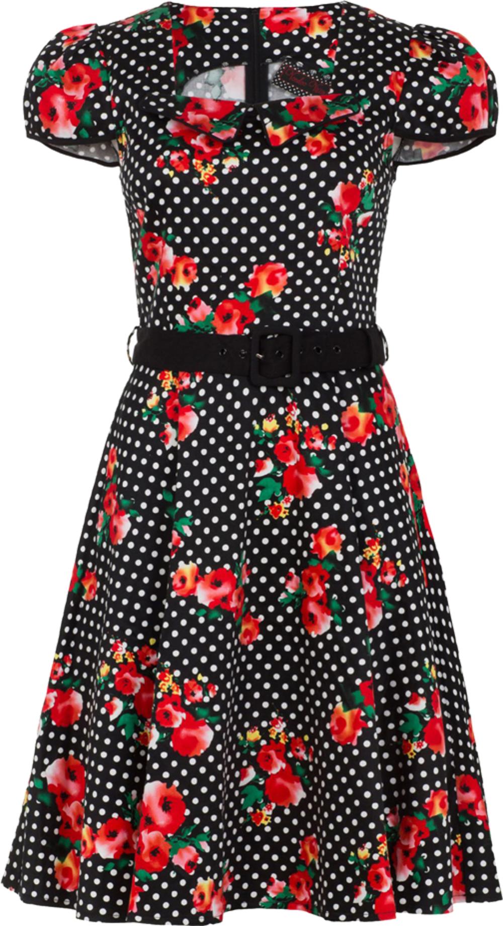 Küstenluder DIXIE Vintage Floral ROSEN Bow Bluse SHIRT Rockabilly