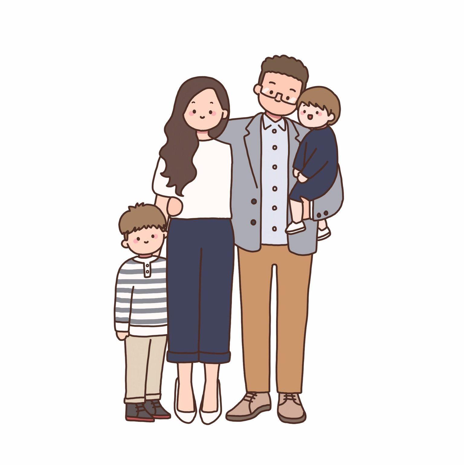 Custom Family Portrait Digital Portrait Custom Illustration