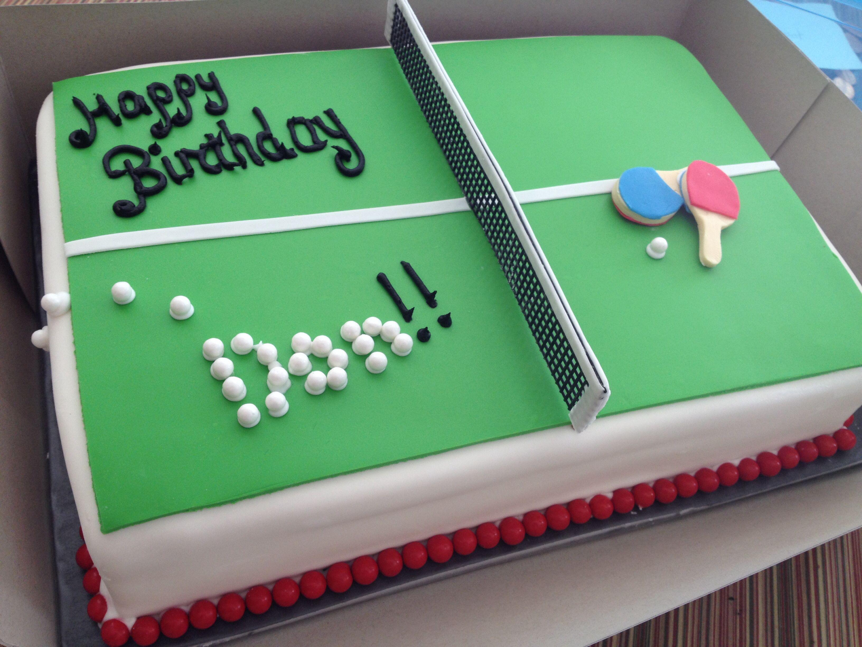 Table Tennis Cake Tennis Cake Cake Table Birthday Dad Birthday Cakes